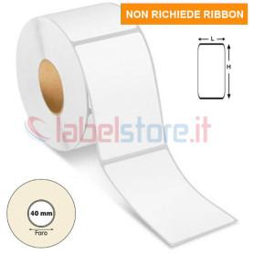 40x72 mm Etichette TERMICHE dirette bianche adesive in rotolo 700 pz