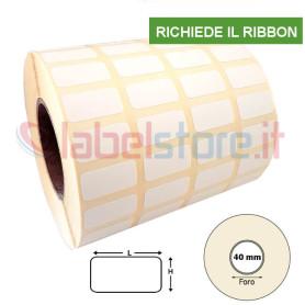 20x10 mm Etichetta carta VELLUM adesiva in bobina stampabile a trasferimento termico 10000 pz