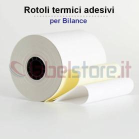 Rotoli carta termica adesiva per bilance mm 62x38 Mt foro 25 conf 50 pz