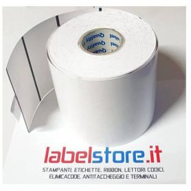 100x50 mm Etichette cartoncino Vellum 200 gr pretagliato con tacca nero