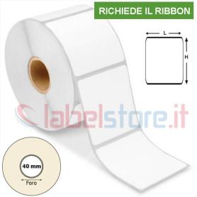 100x100 mm Rotolo etichette VELLUM a trasferimento termico adesive bianco 500 pz