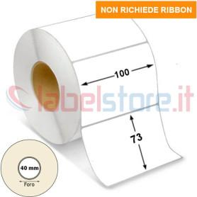 100x73 mm Etichette TERMICHE bianco in rotolo adesive 800 pz