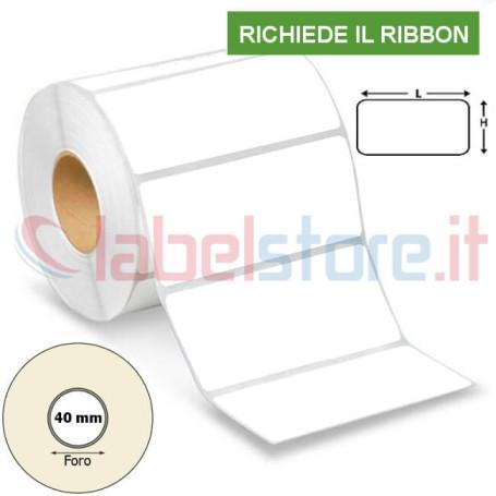 100x50 mm Rotolo etichette VELLUM adesive stampabili a trasferimento termico 1000 pz