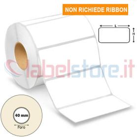 100x50 mm Etichetta TERMICA diretta bianco adesive in rotolo stampabile 1000 pz