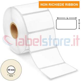 50x25 mm Etichette TERMICHE neutre stampabili adesive in rotolo da 2000 pz