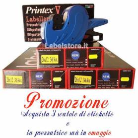 PROMO ETICHETTE 26X12 CON PREZZATRICE IN REGALO