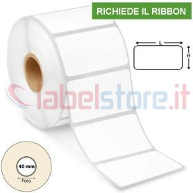 50x30 mm Rotolo Etichette VELLUM adesive stampabili a trasferimento termico
