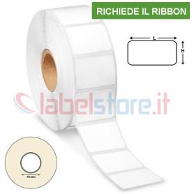 38x25 mm Etichette VELLUM adesive in rotolo stampabile a trasferimento termico