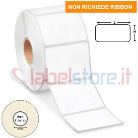 68x37 mm Etichette TERMICHE adesive stampabili in rotolo da 1500 pz