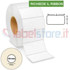 60x30 mm Etichette carta VELLUM a trasferimento termico con adesivo permanente