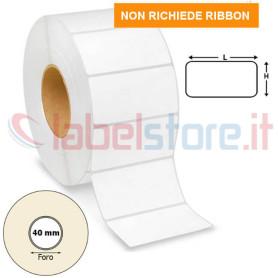 70x30 mm Rotolo etichette TERMICHE adesive bianche stampabili 1800 pz