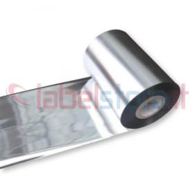 Ribbon ARGENTO SILVER mm 100x300 Mt Cera Resina per stampanti trasferimento termico ink out