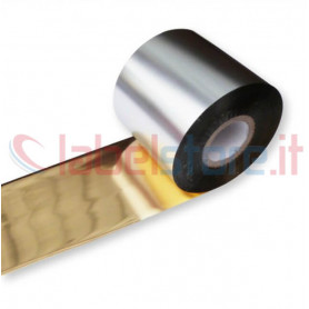 Ribbon ORO GOLD mm 60x300 Mt Cera Resina per stampanti trasferimento termico ink out
