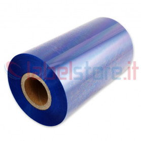 Ribbon BLU mm 110x300 Mt Cera Resina per stampanti trasferimento termico ink out