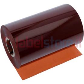 Ribbon MARRONE mm 110x300 Mt Cera Resina per stampanti trasferimento termico ink out
