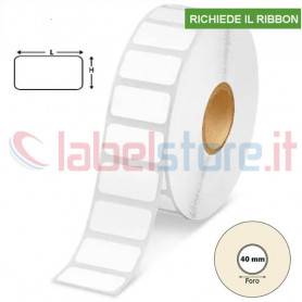 Rotolo etichette 50x20 mm VELLUM da 2500 Pz adesivo REMOVIBILE
