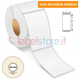 50x120 mm Rotolo etichetta TERMICA TOP adesiva bianca stampabile 500 pz
