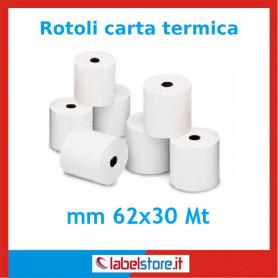 Rotoli carta mm 62x30 Mt carta termica per bilance 50 pz