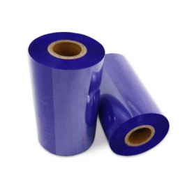 Ribbon COLORATO BLU mm 60x300 Mt Cera Resina per stampanti trasferimento termico ink out