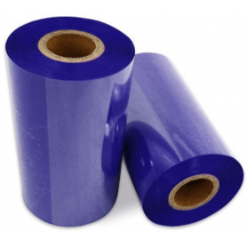 Ribbon colorato BLU 110x300 Mt Cera Resina per stampanti a trasferimento termico ink out