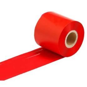 Ribbon colorato ROSSO mm 60x300 Mt Cera Resina per stampanti trasferimento termico ink out
