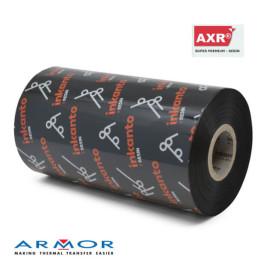 Ribbon 110x300 Mt RESINA AXR7 INKANTO per stampa a trasferimento termico nero