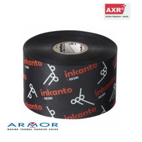Ribbon 60x300 mt RESINA AXR7+ Inkanto out trasferimento termico nero