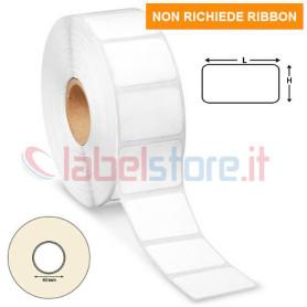Etichette TERMICHE 23x15 mm adesive bianco in rotolo stampabili 3000 pz