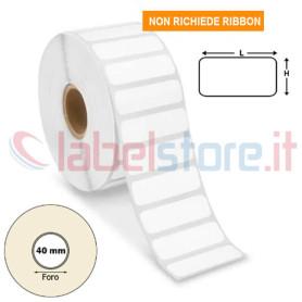 35x15 mm Etichette TERMICHE adesive neutre stampabili in rotolo da 3000 pz