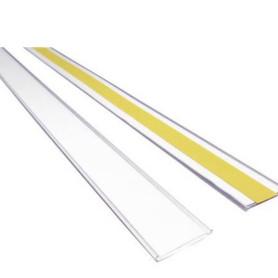 Profilo portaprezzo in PVC h39 mm con biadesivo a retro per scaffali e ripiani