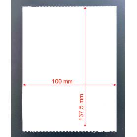 100x137 mm Etichette cartoncino TERMICO pretagliato in bobina per cartellini e segnacolli