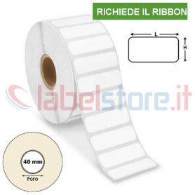 35x15 mm Rotolo etichette VELLUM adesive stampabili a trasferimento termico e sconto quantità