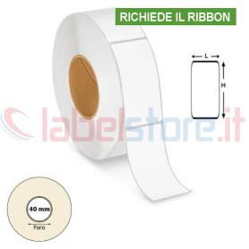 40x72 mm Etichette VELLUM adesive stampabili a trasferimento termico in rotolo