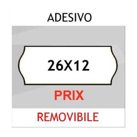 Etichette per prezzatrici 26x12 Prix BIANCO sagomato adesivo Removibile