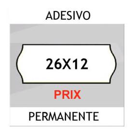 Etichette per prezzatrici 26x12 Prix BIANCO sagomato adesivo Permanente
