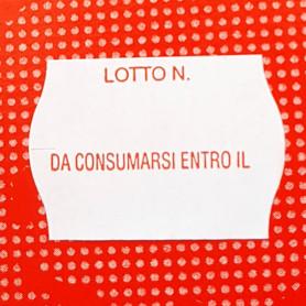Etichette PRIX 26x18 BIANCO per prezzatrici adesivo permanente stampato Lotto e scadenza