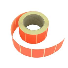 Etichette adesive 40x30 mm carta fluorescente in rotolo stampabile con ribbon