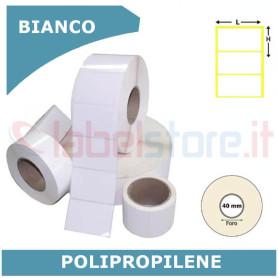 24x12 mm Etichette adesive PPL BIANCO polipropilene in rotolo stampabili a trasferimento termico