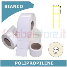 20x25 mm Etichette polipropilene PPL BIANCO in rotolo stampabili a trasferimento termico