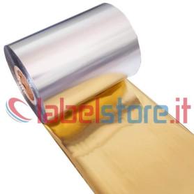 Ribbon mm 80x250 Mt colore ORO Cera-Resina per stampa trasferimento termico