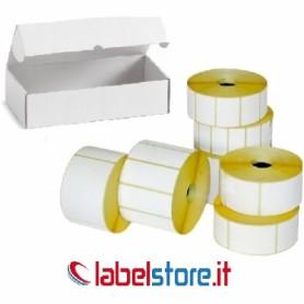 50x25 mm etichette termiche adesivo permanente - Conf. 25 rotoli