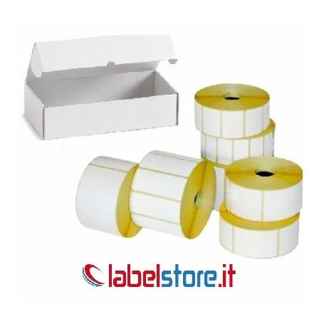 Confezione da 10 rotoli etichette termiche f.to 50x25 adesivo permanente