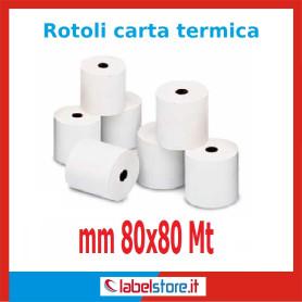 Rotoli carta termica omologata 80 mm x 80 m (Conf. 50 pz.)