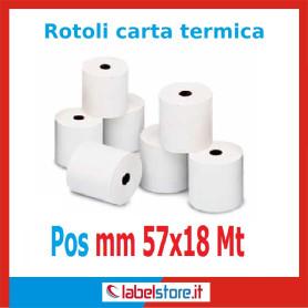 Rotoli carta termica per Pos mm 57x18 mt (Conf. 50 pz.)