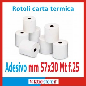 Rotoli carta termica adesiva mm 57x30 mt (Conf. 50 pz.)