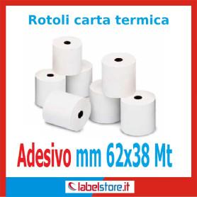Rotoli carta termica adesiva mm 62x38 mt (Conf. 50 pz.)