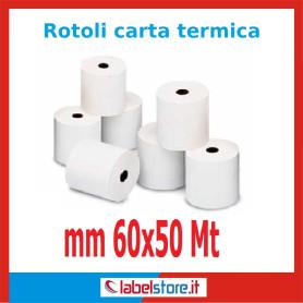 Rotoli carta termica omologata mm 60x50 mt (Conf. 50 pz.)