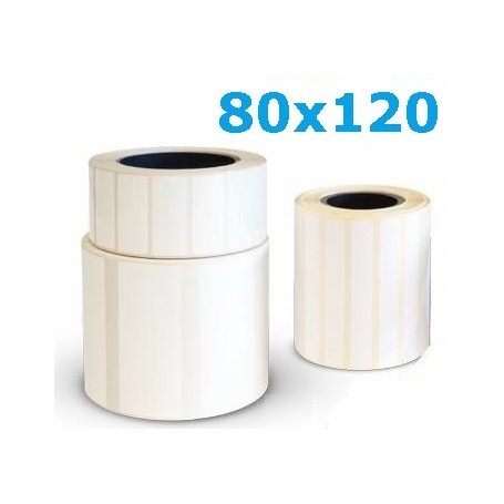 80x120 mm Rotolo etichette termiche da 500 pz - Conf. 25 rotoli