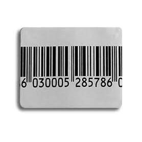 Etichetta adesiva cm 4x3 disattivabile per antitaccheggio radiofrequenza